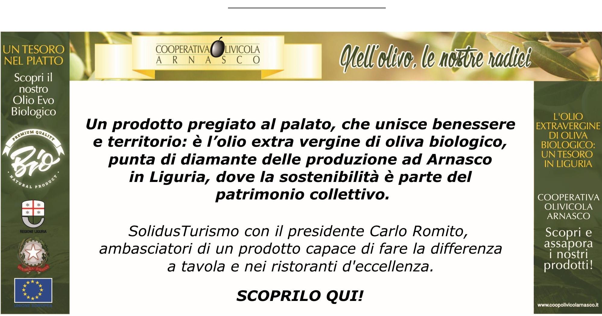 Coop Olivicola Arnasco: olio extra-vergine biologico